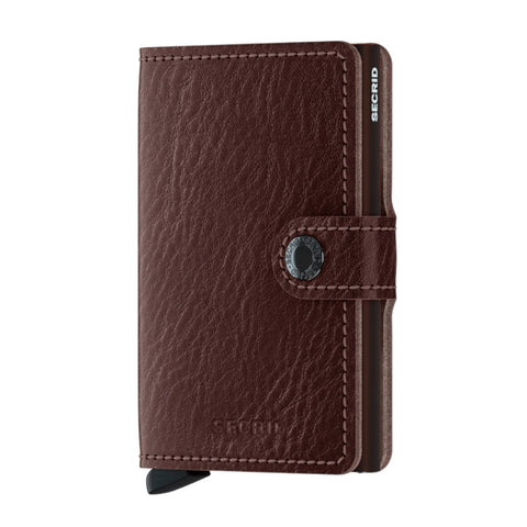 Miniwallet in Espresso-Brown by Secrid