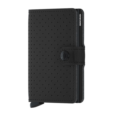 Miniwallet in Perforated Black by Secrid