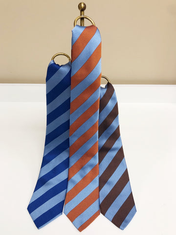 Textured Striped Silk Neck Tie in 3 colors by David Donahue