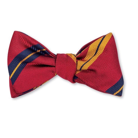 Red Oberlin Stripes Bow Tie by R. Hanauer