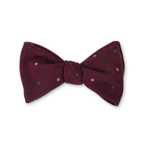Dot Challis Bow Tie in Red by R. Hanauer