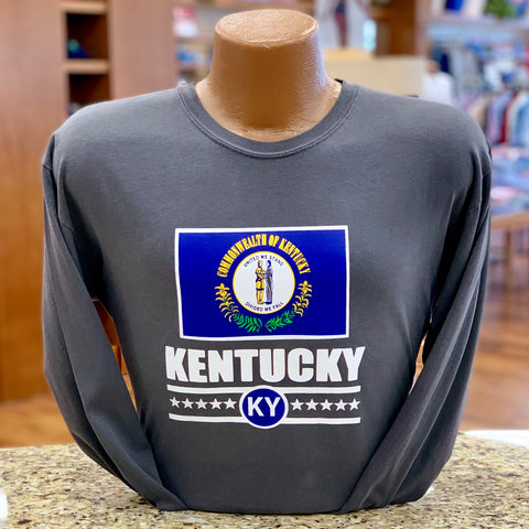 Kentucky State Flag Long Sleeve Tee in 2 Colors by Logan's
