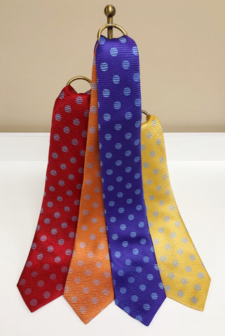 Circle Pattern Silk Neck Tie in 4 colors by David Donahue