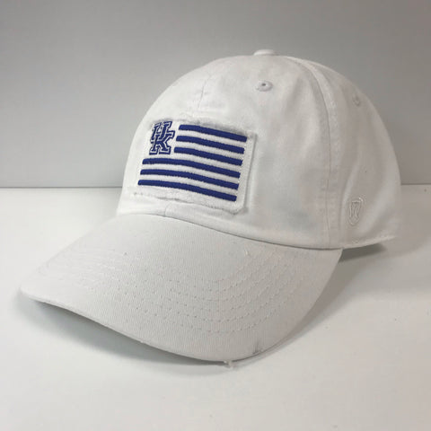 UK Flag Hat in White by Top of the World
