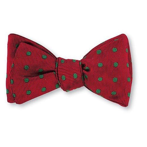 Red/ Green Vero Polka Dots Bow Tie by R. Hanauer