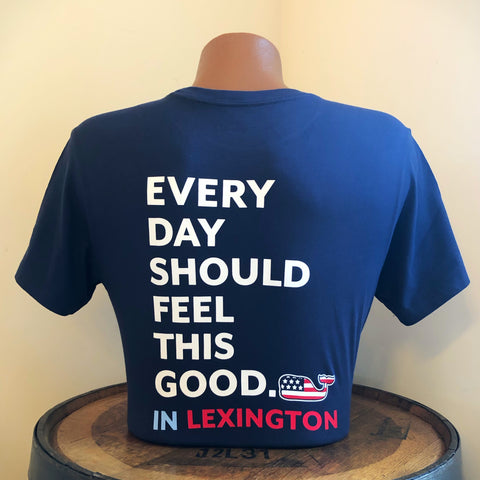 EDSFTG in Lexington Short Sleeve Tee in Blue Blazer by Vineyard Vines