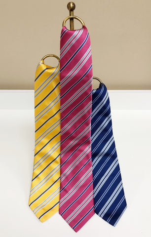 Stripe Silk Neck Tie in 3 colors by David Donahue