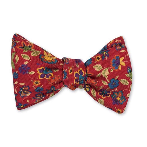 Red Danbury Floral Bow Tie by R. Hanauer