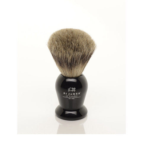 Pure Badger Brush in Ebony by St. James of London
