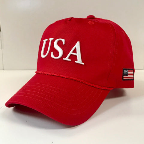 USA Hat in Red by Logan's
