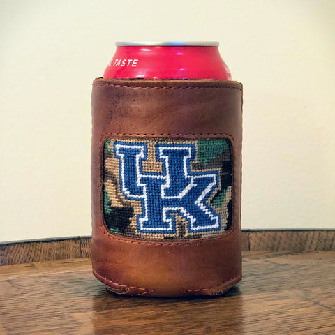 University of Kentucky Camo Needlepoint Koozie by Smathers & Branson