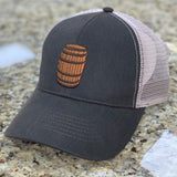 Single Barrel Bourbon Trucker Hat in Chocolate by Logan's of Lexington