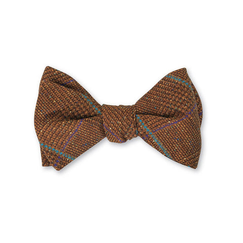 Halifax Plaid Bow Tie in Henna by R. Hanauer