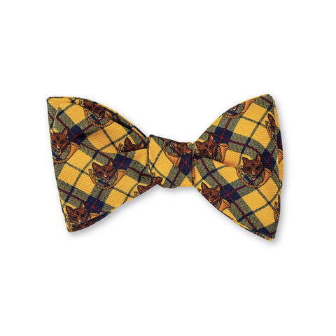 Fox & Horn Bow Tie in Yellow by R. Hanauer