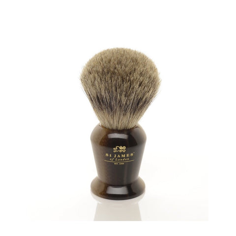 Pure Badger Brush in Horn by St. James of London