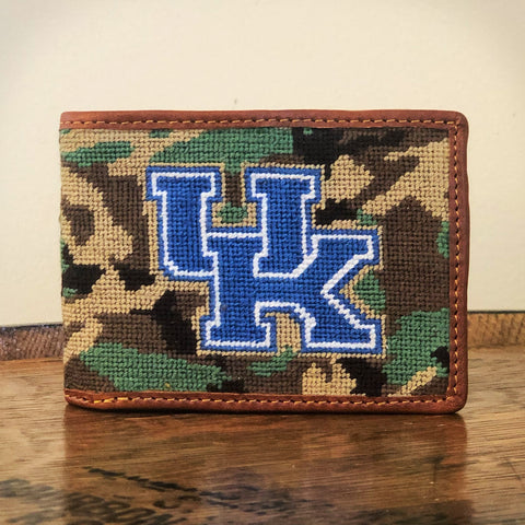 University of Kentucky Camo Needlepoint Wallet by Smathers & Branson