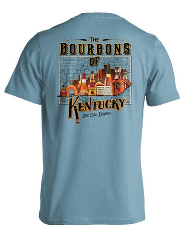 Bourbons of Kentucky Short Sleeve Tee in Ice Blue by Live Oak Brand