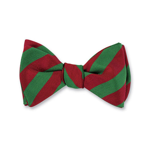 Bar Stripes Bow Tie in Red & Green by R. Hanauer