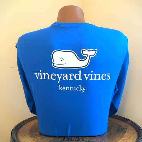 Kentucky Whale Logo Long Sleeve Tee in Royal Blue by Vineyard Vines