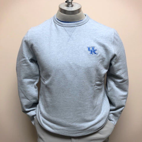 University of Kentucky Upper Deck Pullover Sweatshirt in Heather Slate Grey by Southern Tide