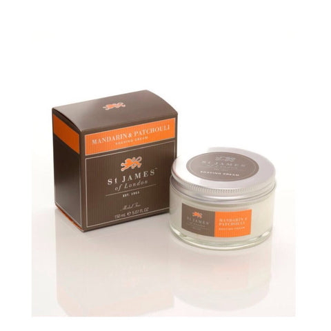 Mandarin & Patchouli Shave Jar by St. James of London