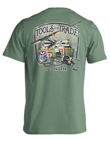 Tools of the Trade (Freshwater Fishing) Short Sleeve Tee in Light Green by Live Oak Brand