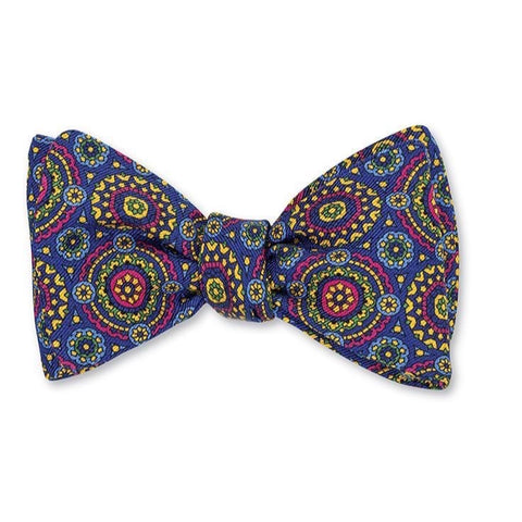 Blue Providence Medallions Bow Tie by R. Hanauer