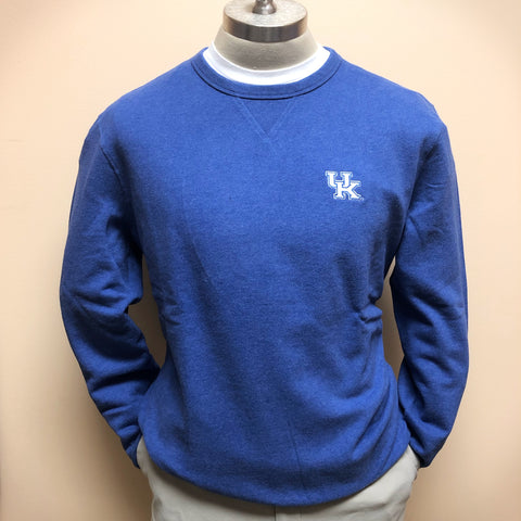 University of Kentucky Upper Deck Pullover Sweatshirt in Heather University Blue by Southern Tide