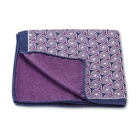 Purple Windingbrook Pocket Square by R. Hanauer