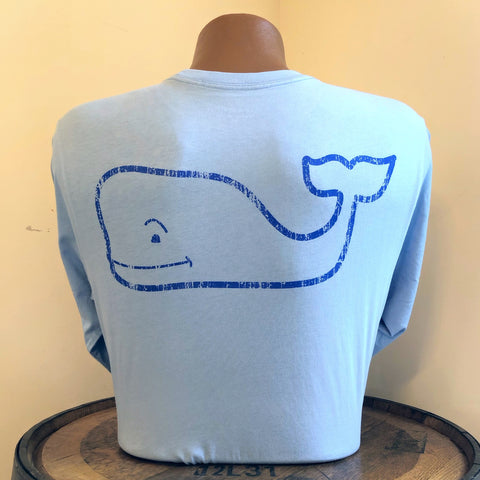 Vintage Whale Graphic Long Sleeve Tee in Jake Blue by Vineyard Vines