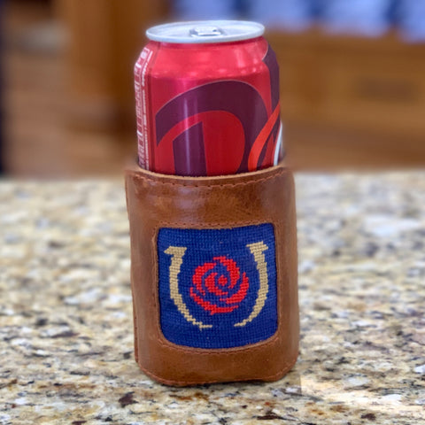 Kentucky Derby Needlepoint Koozie in Blue by Smathers & Branson