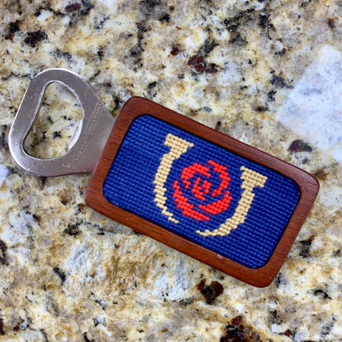 Kentucky Derby Needlepoint Bottle Opener in Blue by Smathers & Branson