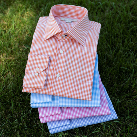 Gingham Dress Shirt in 4 Colors by Hagen