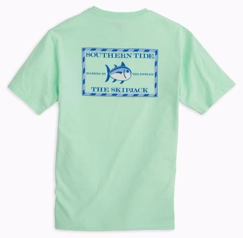 Original Skipjack Short Sleeve T-Shirt in Offshore Green by Southern Tide