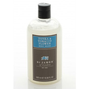 Tonka & Tobacco Flower Body Wash by St. James of London