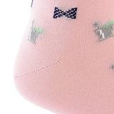 Pink With Navy Bow Tie Mint Julep Mid-Calf Sock by Dapper Classics