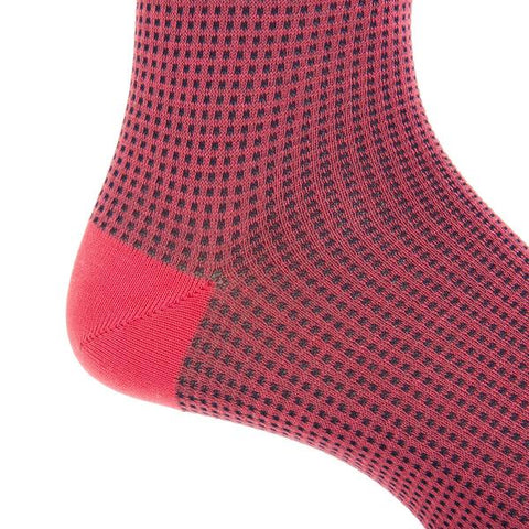 Coral and Classic Navy Mid-Calf Socks by Dapper Classics