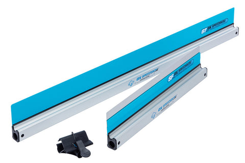OX Speedskim 1200mm Semi Flexible Plastering Rule & 900mm Stainless Flex Finishing Rule with Universal Pole Attachment