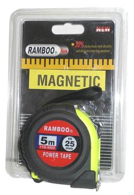 Ramboo 5m Magnetic  Tape Measure Wide Blade Box of 12