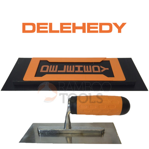 "Delehedy 14"" foam backed plastic blade with Trowel"