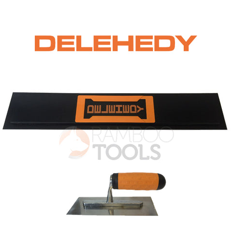 "Delehedy 28"" foam backed plastic blade with Trowel"