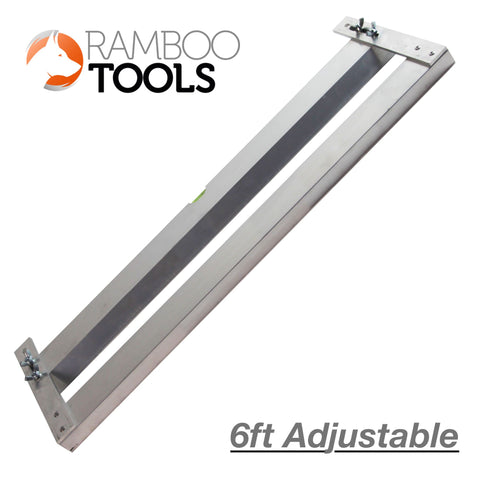 Ramboo 6ft adjustable Quoin cutter - Aluminium double Quoin/Ashlar jig