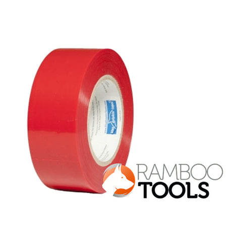 Blue Dolphin Tarp and Stucco Tape Red - 60 day 48mm x 50m