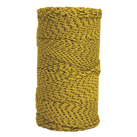 W.Rose Super Tough Bonded Braided Nylon Line Yellow & Black - 685' Builders line