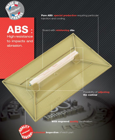 Yellow ABS Plastic Float With Diamond Face 42cm X 16cm