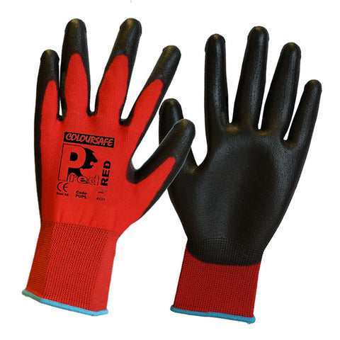 Coloursafe Red Latex Gloves Size 8 (M)