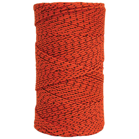 W.Rose Super Tough Bonded Braided Nylon Building Line Orange & Black - 685'