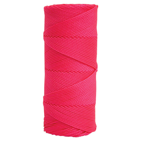 Kraft Fluorescent Pink Braided Nylon Builders Mason's Line - 500' Tube