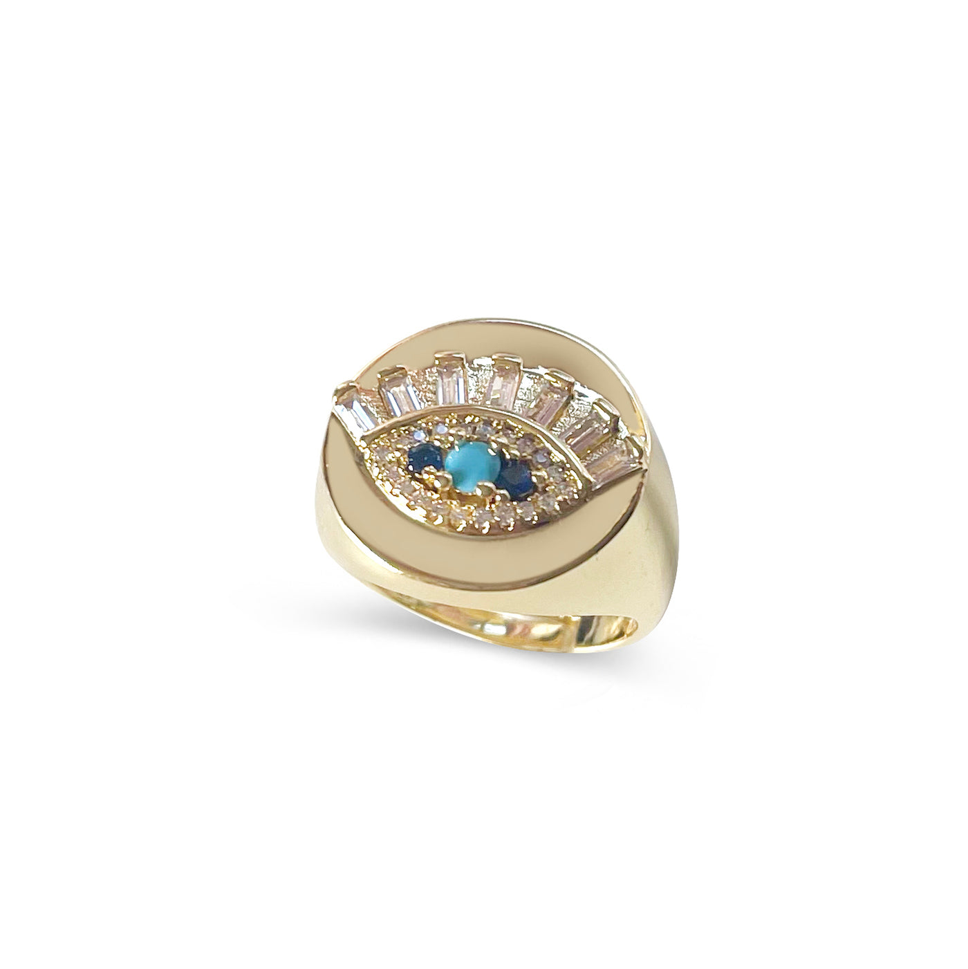 Eye See Blue Skies Signet Ring
