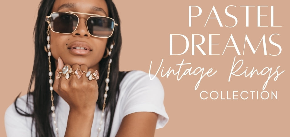 Pastel Dreams Vintage Rings Collection